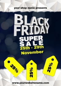 Black Friday Poster Flyer Template sale A4