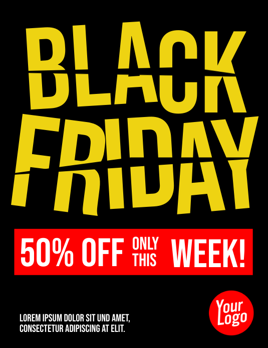 Black Friday Price Cut Flyer template