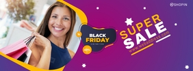 Black Friday Promo Facebook Page Cover template