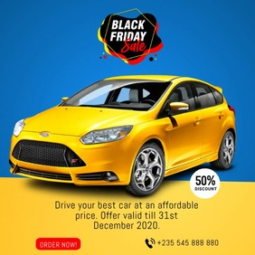 Black Friday Promo Flyer Animated Template Square (1:1)