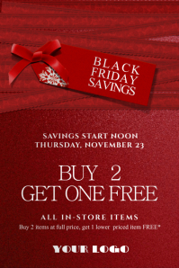 Black Friday Red Tag Sale Cristmas Savings Discount Promo