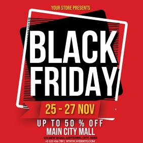 BLACK FRIDAY RETAIL SALE AD FLYER TEMPLATE Instagram Post