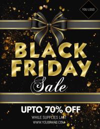black friday sale, black friday ใบปลิว (US Letter) template