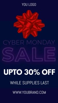 black friday sale, cyber monday sale เรื่องราวบน Instagram template
