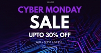 black friday sale, cyber monday sale Facebook Shared Image template