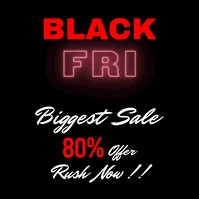 Black friday sale 7 Instagram Post template