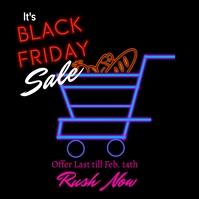 Black friday sale 8i Publicación de Instagram template