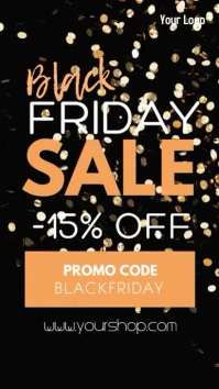 Black Friday Sale Advert Promotion Gift Instagram Story template