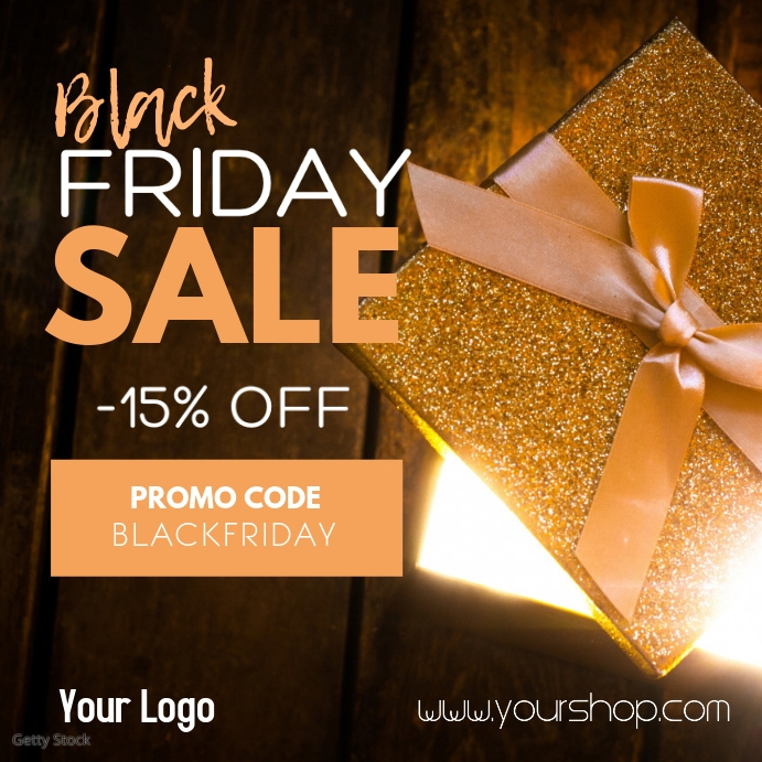 Black Friday Sale Advert Promotion Gift Promotion Store Shop Instagram Post template