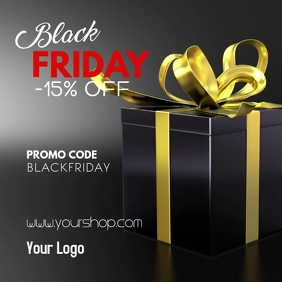 Black Friday Sale Advert Promotion Gift Store