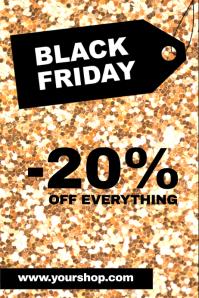 Black Friday Sale Advert Promotion Gold Glam