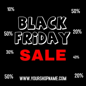 Black Friday Sale Advert Promotion Shopping