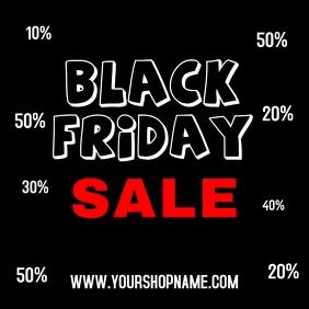 Black Friday Sale Advert Promotion Shopping