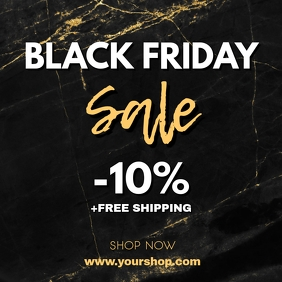 Black Friday Sale Advert square video ad shop