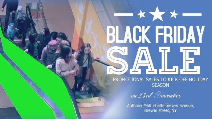Black Friday Sale Announcement Facebook Cover Video Template Postermywall