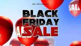 Black friday Sale Balloons Video Price Off Ad