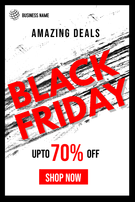 BLACK FRIDAY SALE banner Баннер 4' × 6' template