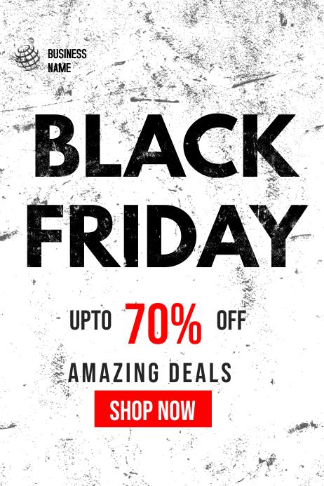 BLACK FRIDAY SALE banner Cartel de 4 × 6 pulg. template