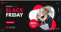 Black friday sale banner promotional facebook template