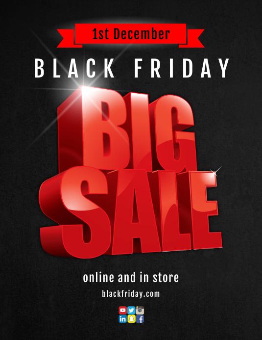 Black Friday Sale Flyer (US Letter) template