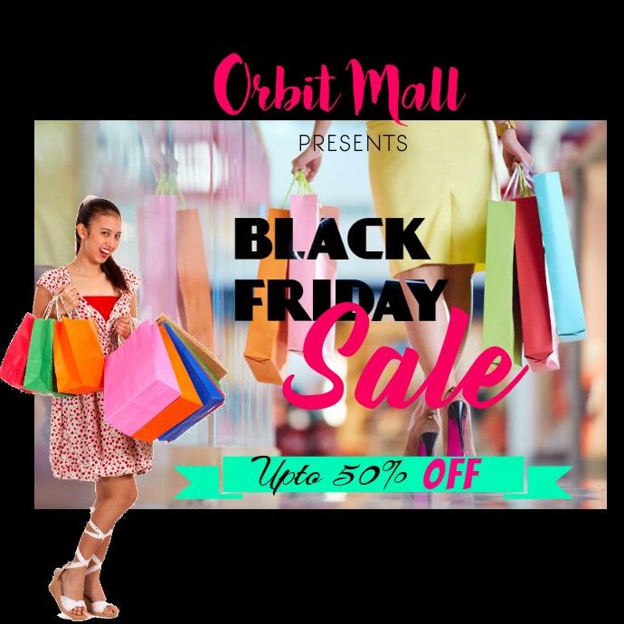 Black Friday Sale Instagram-opslag template