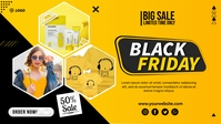Black Friday Sale Facebook-omslagvideo (16:9) template