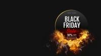 Black Friday Sale งานแสดงผลงานแบบดิจิทัล (16:9) template