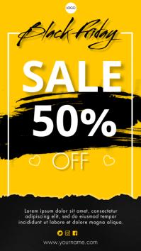 Black Friday Sale Tampilan Digital (9:16) template
