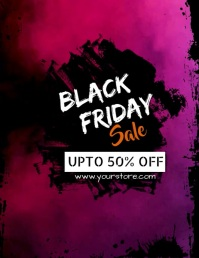 Black Friday Sale Pamflet (Letter AS) template