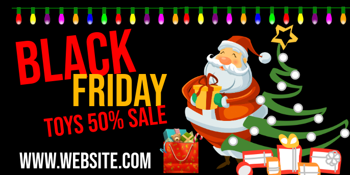 Black Friday Sale Publicación de Twitter template