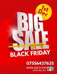 Black Friday Sale 传单(美国信函) template