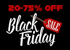 Black Friday Sale Postcard template