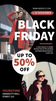 black Friday sale Digitalt display (9:16) template