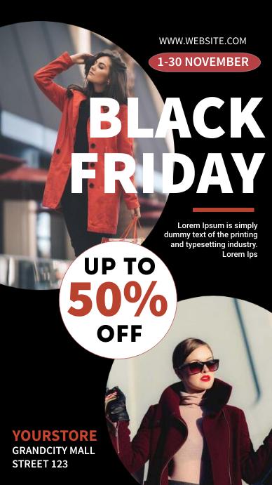 black Friday sale 数字显示屏 (9:16) template