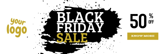 Black Friday Sale Banner 2' × 6' template