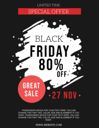 BLACK FRIDAY SALE DISCOUNT Design Template Volante (Carta US)