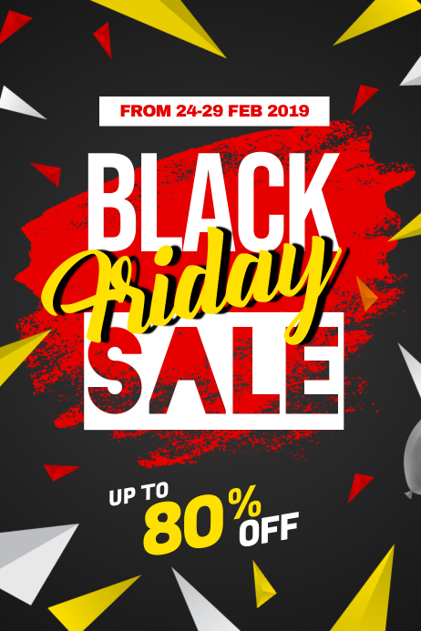 Black Friday Sale Discount Poster Flyer Template