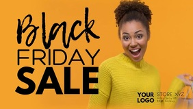 Black Friday Sale Discount Price Off Video Ad Facebook-omslagvideo (16:9) template