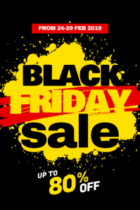 Black Friday Sale Discount Promotion Template Poster