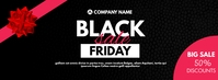 black friday sale discount up to 50% off desi Facebook-coverfoto template