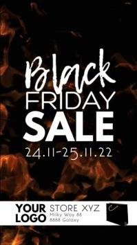 Black Friday Sale Discount video explosion เรื่องราวบน Instagram template