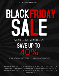 Black Friday Sale Event Flyer Template