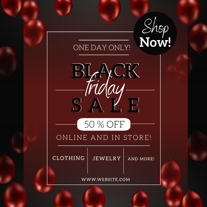 BLACK FRIday Sale Event Flyer template Square (1:1)