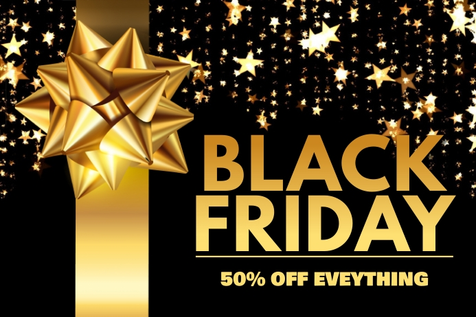 Black Friday Sale Event Poster Template Cartaz