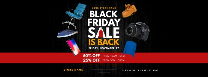 Black Friday Sale Facebook Cover template
