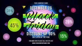 Black Friday Sale Facebook Cover Video