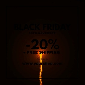 Black Friday Sale Firework Explosion Discount