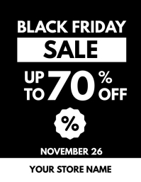 Black Friday Sale Flayer Black White