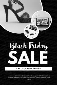 Black Friday Sale Flyer Design Template Poster