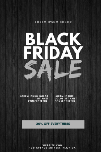 Black Friday Sale Flyer Design Template Poster